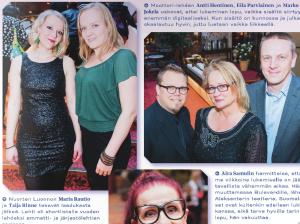 """Ajankuva 1/2014: """"Nuorten Luonnon Maria Rautio ja Taija Rinne tekevät laadukasta jälkeä. Lehti oli shortlistalla vuoden lehdeksi ammatti- ja järjestölehtien sarjassa."""""""